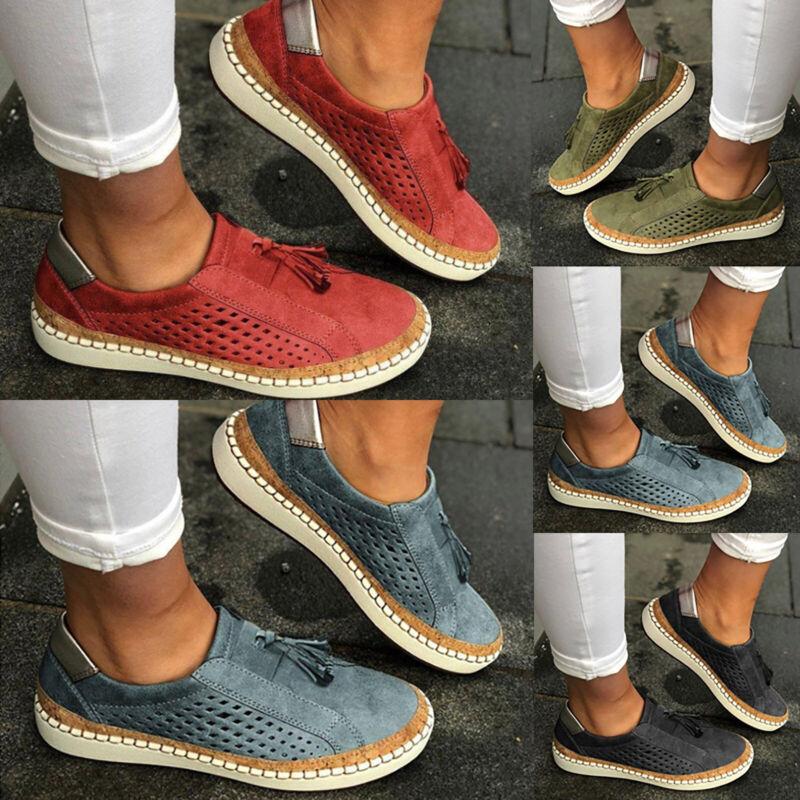 Damen Flachechuhe Halbschuhe Sneaker Atmungsaktive Sommerschuhe Freizeit Schuhe