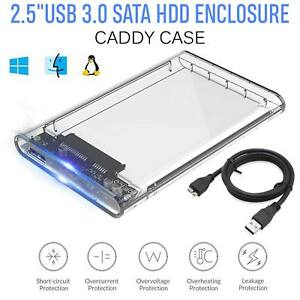 2.5Inch USB 3.0 SATA3 5gbps Hard Drive Enclosure Caddy Case For External HDD/SSD