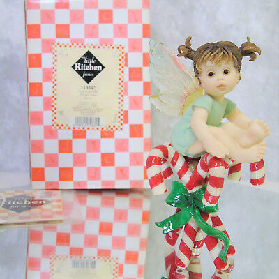 NEW My Little Kitchen Fairies CANDY CANE FAIRIE Christmas Fairy Figurine 2003! - Kitchen Fairy Candy