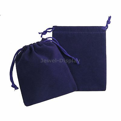 50 Drawstring Purple Velvet Square Jewellery Pouches Party Gift Bags 4x5
