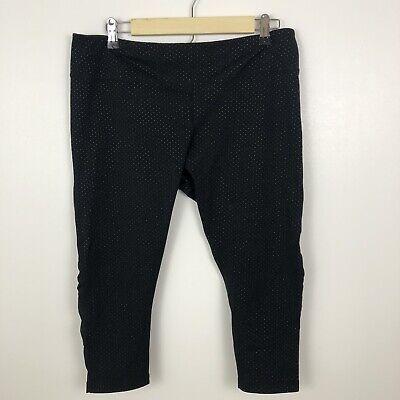 Zella Women's Leggings Size XL Black Colorful Polka Dot Capri Workout Athletic
