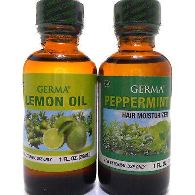 - Germa Lemon Peppermint Oil Hair Moisturizer Massage Aceite Limon Menta Piel Pelo