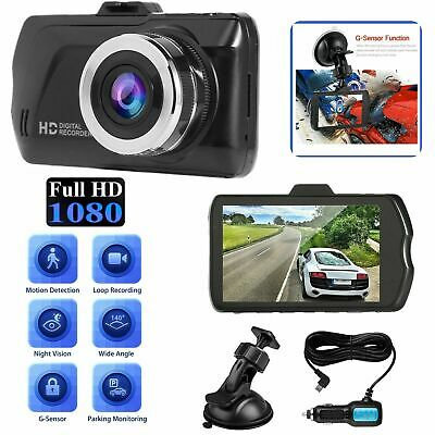"3"" Dual Dash Cam Front and Rear 1080p HD Car Truck DVR Dashboard Camera Recorder"