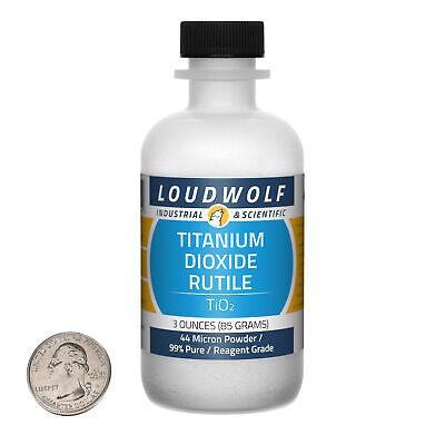 Titanium Dioxide Rutile 3 Oz Bottle 99 Reagent Grade 44 Micron Powder