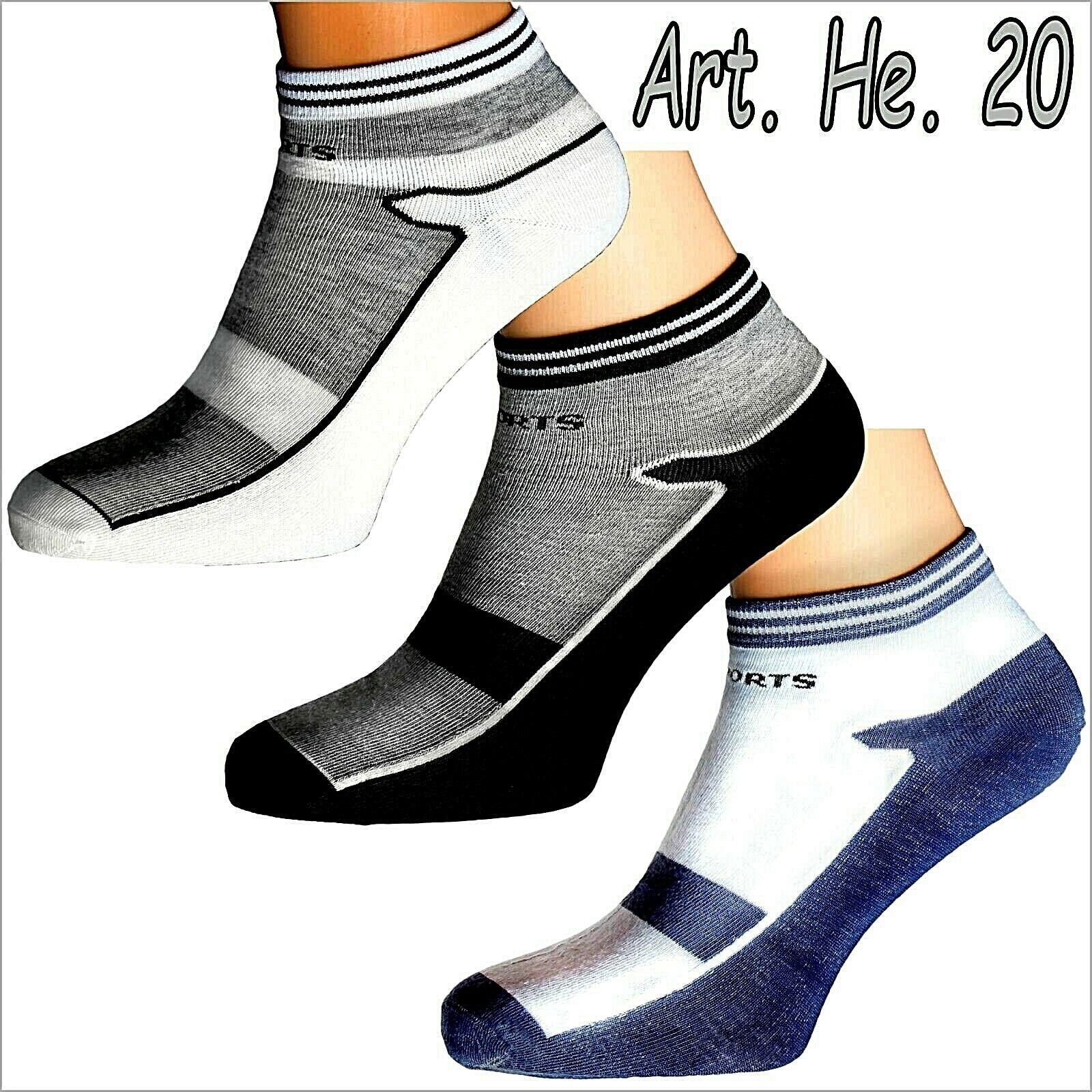 """12 P Herren Sneakersocken Kurzsocken Sport Baumwoll  Sneaker, Socken Füßlinge, """""""
