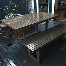 Outdoor Table and 2 Benches Seddon Maribyrnong Area Preview