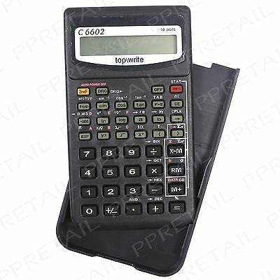Scientific Calculator ~WITH SLIDE COVER~ Maths Science GCSE BTEC A Level Exam