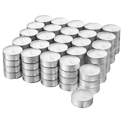 100x Unscented Tealight Candles - Plant Based Wax - 38mm Diameter IKEA...