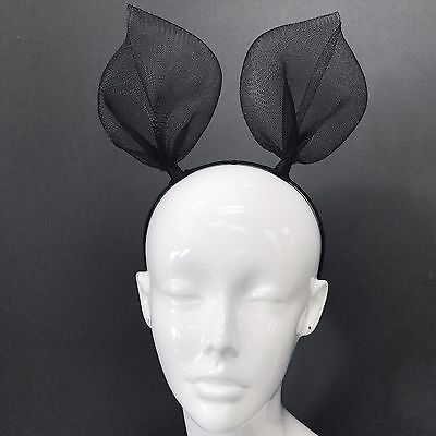 Trendy Black Mesh Rabbit Bunny Ears Headband For Fancy Dress Costume Party  - Bunny Ears Black