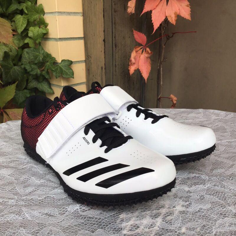 NEW adidas Adizero High Jump Track & Field Event W/ Spikes B37490 White Black 10