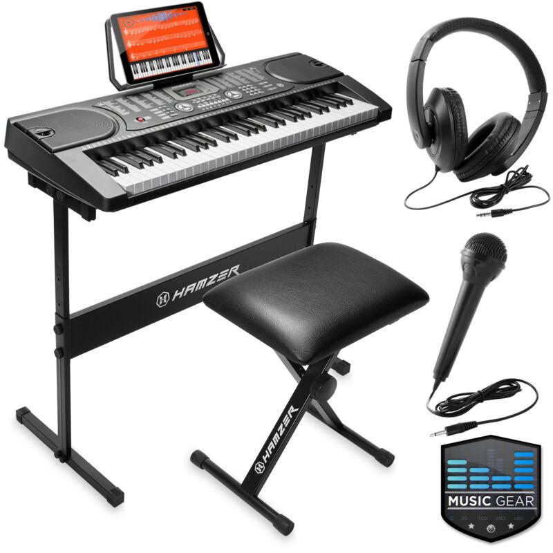 61-Key Digital Music Piano Keyboard - Portable Electronic Musical Instrument