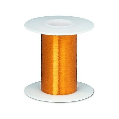 43 Awg Gauge Heavy Formvar Copper Magnet Wire 4 Oz 15793 0.0026 105c Amber