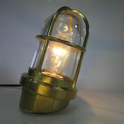 Schiffslampe Massiv Messing Glaskolbenlampe Maschinenraum Lampe Decklampe