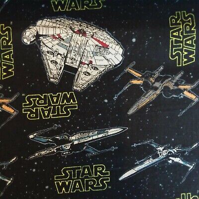 Star Wars Cotton Fabric Roll Ends, Ideal for Quilting