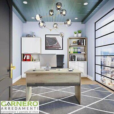 Arredo ufficio completo mobile TIME 23 rovere bianco antracite moderno design