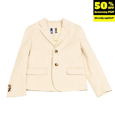 RRP €195 MSGM KIDS Gabardine Blazer Jacket Size 6Y Partly Lined Single Breasted