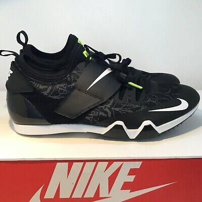 ab7345e456941 New Nike Zoom PV Elite Pole Vault Track Spikes Black White AA1204-001 Men  Sz 12