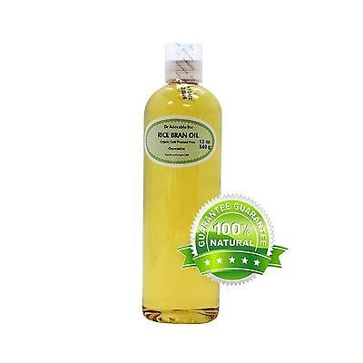 12 Oz Premium Rice Bran Oil Pure Organic Cold Pressed Best Fresh Multi