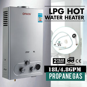 Tankless Hot Water Heater Propane Gas LPG 4.8GPM On-Demand 18L Digital Control