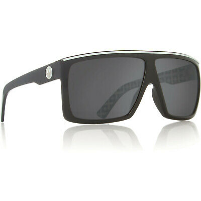 Dragon Alliance The Fame Sunglasses Palm Springs Black White Grey Smoke Lens (White Dragon Sunglasses)