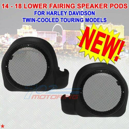 LOWER FAIRING SPEAKER PODS FOR HARLEY DAVIDSON TWIN-COOLED TOURING MODEL 2014-21