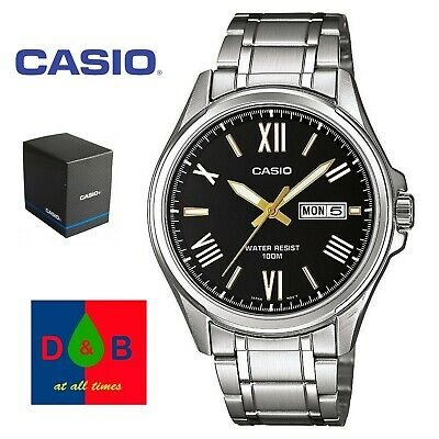 Casio MTP-1377D-1AVEF Collection Silver Steel Bracelet Watch RRP £55 Boxed NEW