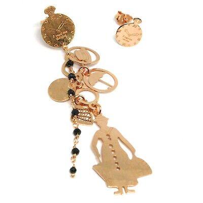 Tropfen Ohrringe 925 Silber, Mary Tasche Regenschirm Hut Armbanduhr, Le Favole (Schwarzen Regenschirm Hut)