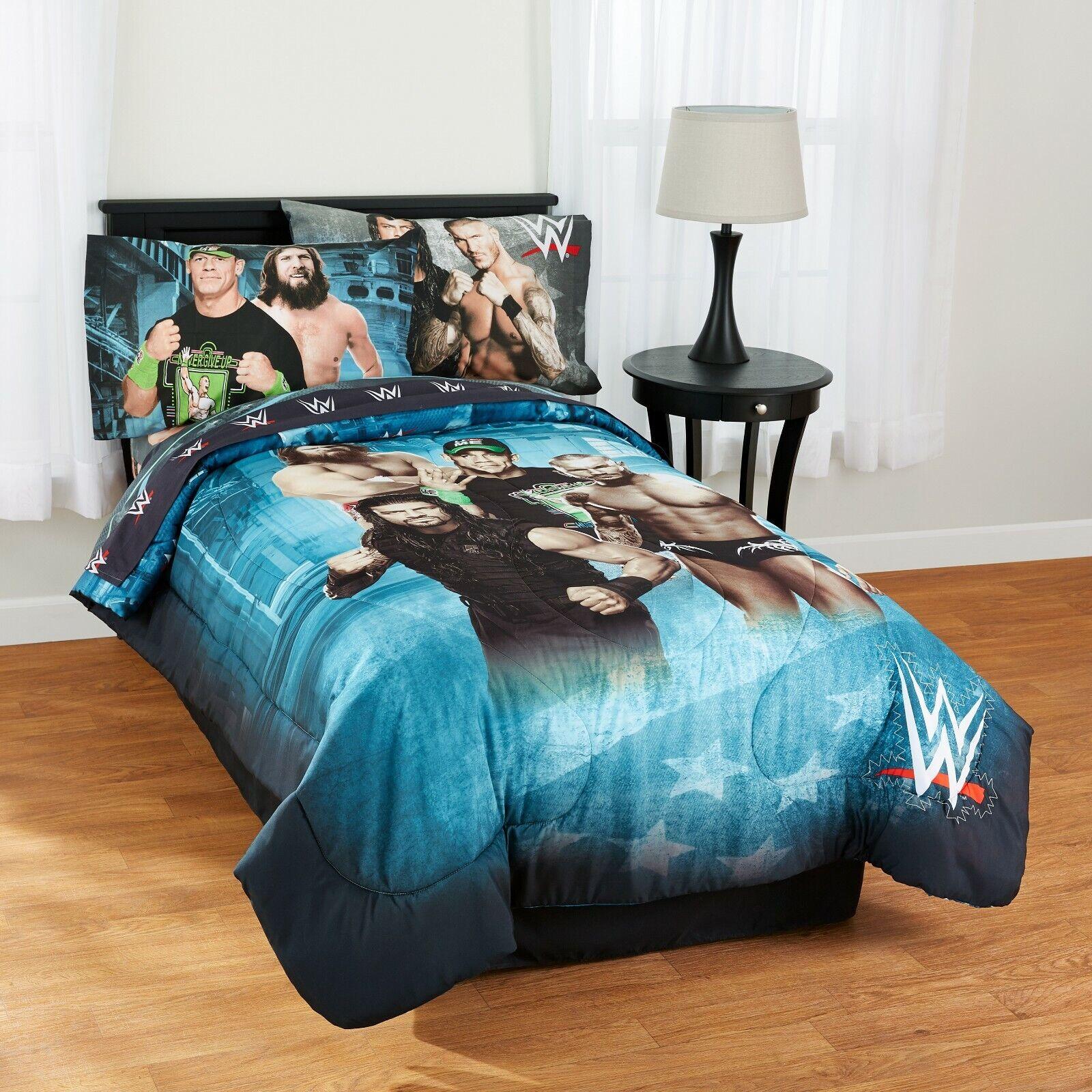 ALL SIZE WWE Comforter & Sheet Set Bedding Set Boys Comforte