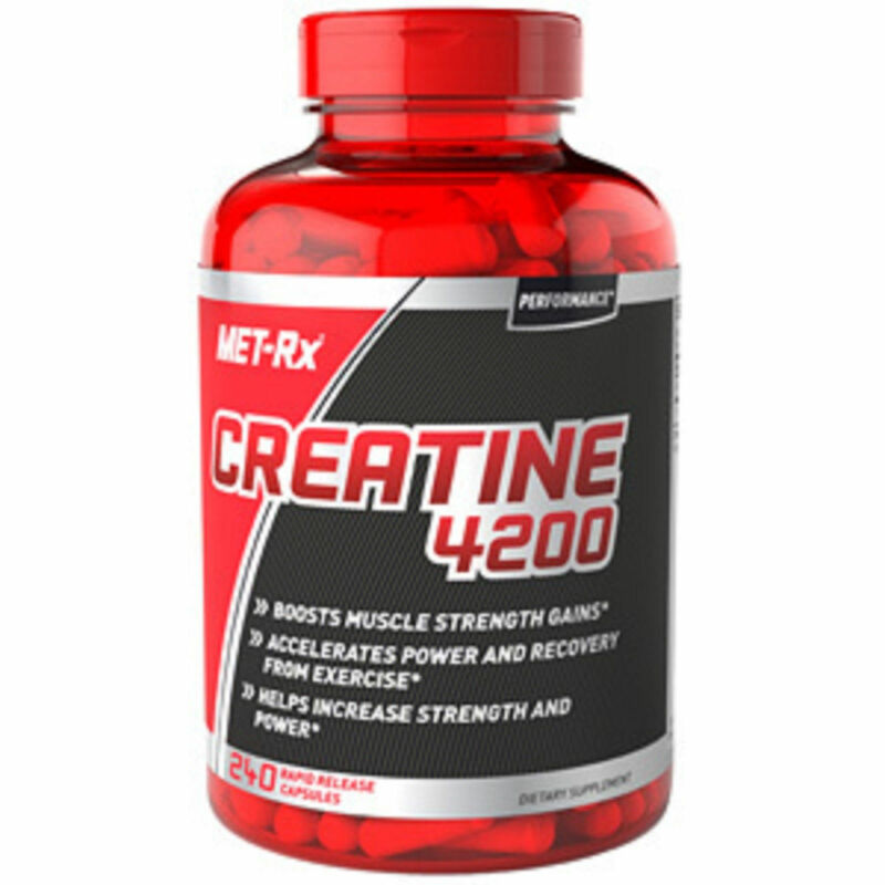 Met-Rx Creatine 4200 Muscle Strength Gains Power & Recovery 240 Capsules