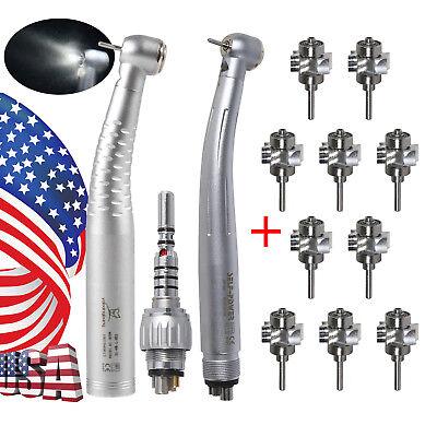 Dental Led Fiber Optic E-generator Handpiece Turbine 6h Coupler W Rotor Ybb