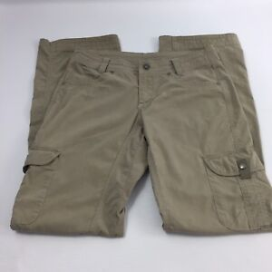 Kuhl Womens Size 4 x 32 Vintage Khaki Beige Roll-up Cargo Hiking Pants