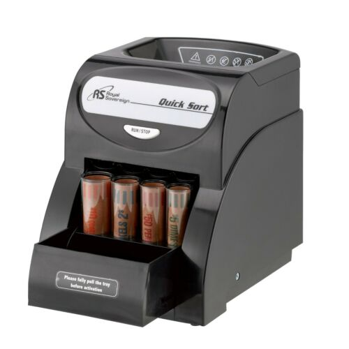 Cash Counting Counter Machine Electric Coin Sorter Change Money Anti-Jam Roll