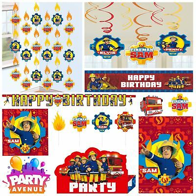 Fireman Sam Hero Childs Birthday Party Supplies Decorations Balloons Favours - Fireman Balloons