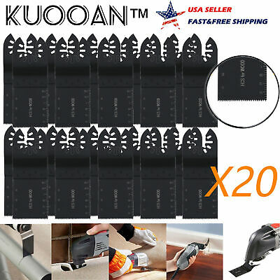 20 Pcs Universal 34mm Oscillating Multi Tool Saw Blades Carbon Steel Cutter Set