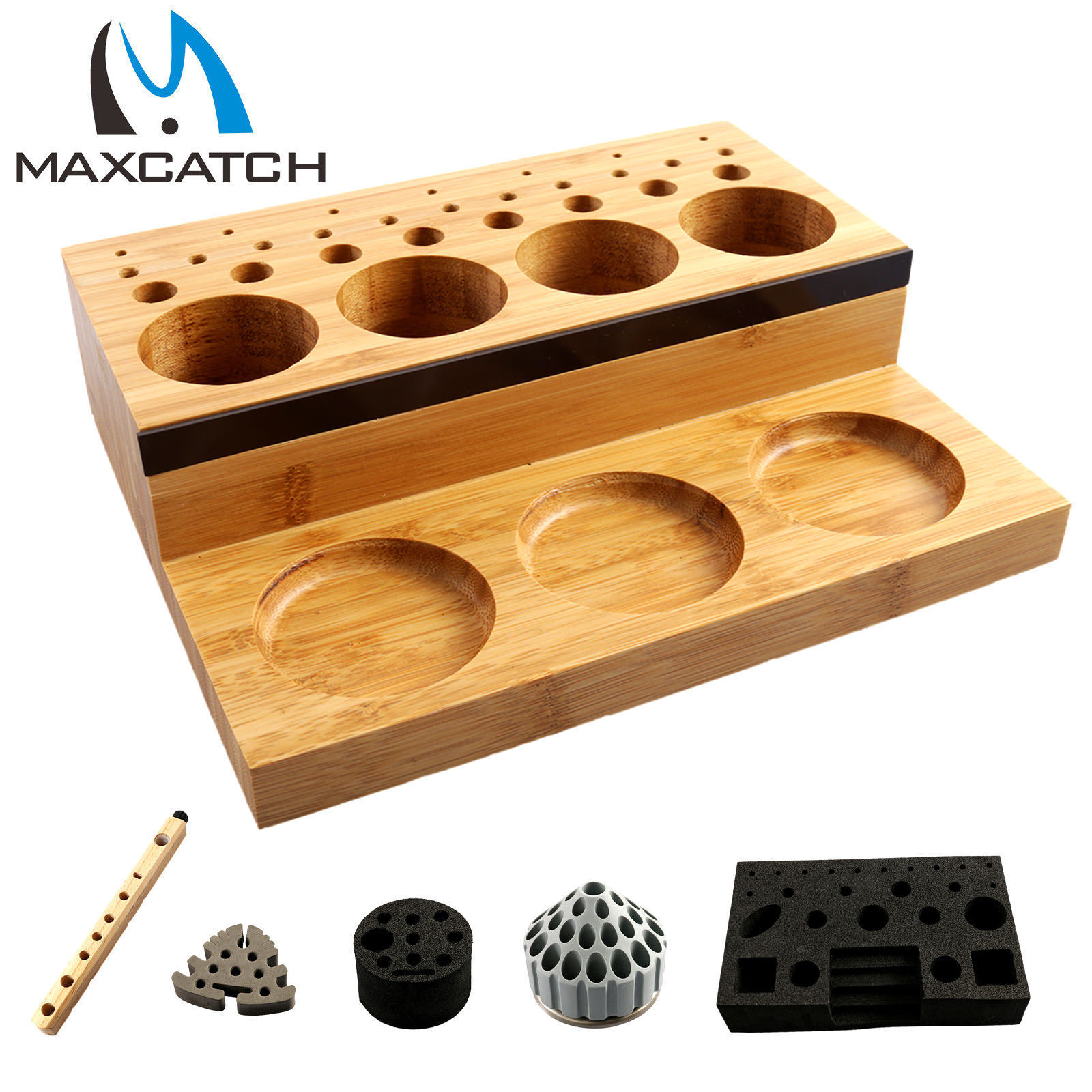 Details About Maxcatch Fly Tying Tool Organizer Station Bar Tool Post Caddy Rotating Diy