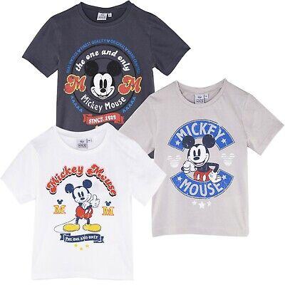 Disney Mickey Maus Charakter Jungen Kurzärmelig Oberteile Baumwolle T-Shirt (Disney Jungen Charaktere)