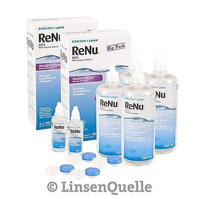 ReNu MPS Big Box, 4ˣ360ml Kombilösung für weiche Kontaktlinsen von Bausch&Lomb