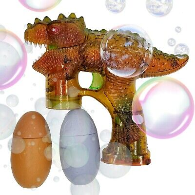 Light Up Bubble Gun Flashing Bubble Blower Blaster Squirt Shooter Lots Dinosaur