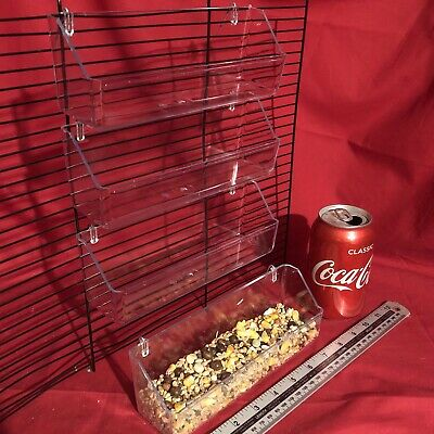 4x Quail Poultry Feeder 20 cm Clip On Water Food Bowl 2 Hook Trough Fowl Chicken