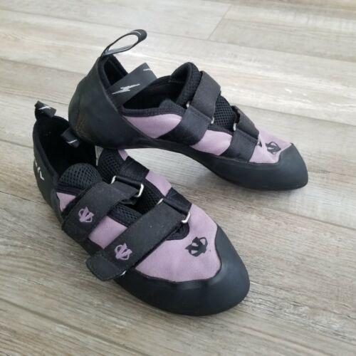 Evolv VTR 3D Eco-Trax Rubber Purple Rock Climbing Bouldering Shoes USA Size 10