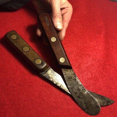 OLD US BUSHCRAFT RIVER RAT TRAPPER HUNTING CAMP KNIFE & OLSEN HIDE SKINNER SET