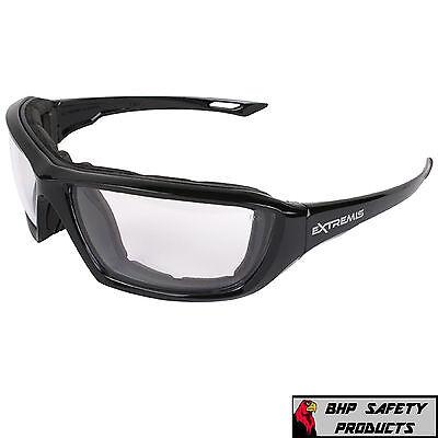 Extremis Xt1-11 Foam Lined Safety Glasses Clear Anti-fog Lens Eyewear 1 Pair