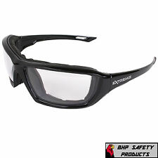 RADIANS XT1-11 EXTREMIS SAFETY GLASSES CLEAR ANTI-FOG LENS WORK EYEWEAR (1 PAIR)