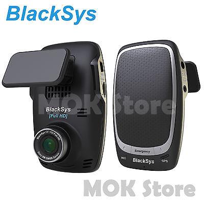 Blacksys 2CH Car Dash Cam CF-100 (FHD Sony Sensor+Rear Camera) Black Box + 16GB
