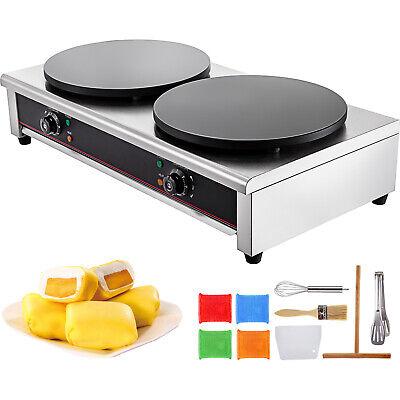"""Electric Crepe Maker Pan 16"""" x 2 Baking Pancake Griddle Mach"""