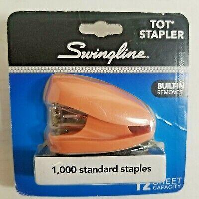 Swingline Pink Tot Mini Stapler Pack 1000 Standard Staples Non Skid Base