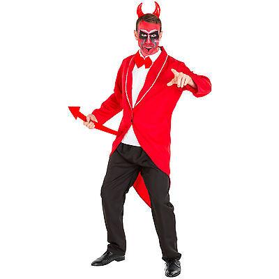 Herrenkostüm Teufel Kostüm Halloween Fasching Karneval Devil Satan Teufelskostüm