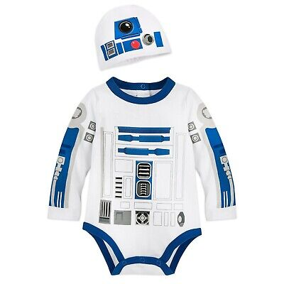 0 3 Month Costumes (Disney Store Authentic Star Wars R2-D2 Baby Costume Bodysuit 0 3 6)