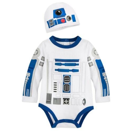 Disney Store Authentic Star Wars R2-D2 Baby Costume Bodysuit 0 3 6 Months