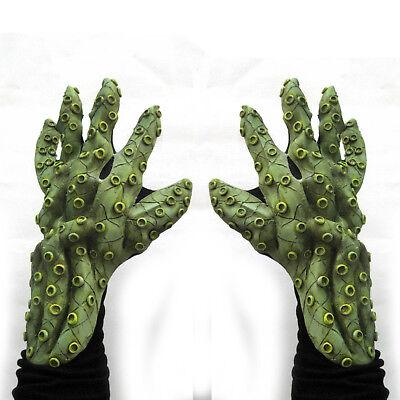 Octopus Tentacles Cthulhu Hands Green Sea Monster Adult Halloween Costume Gloves